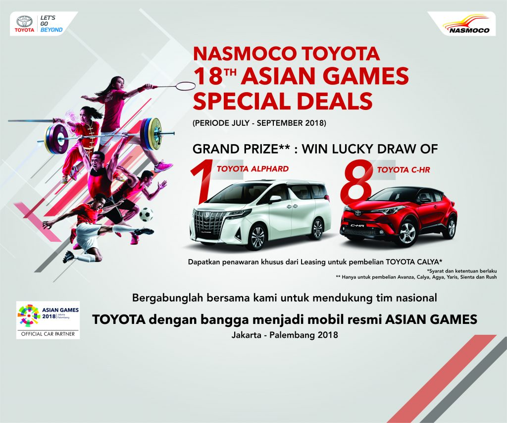Promo Toyota Asian Games